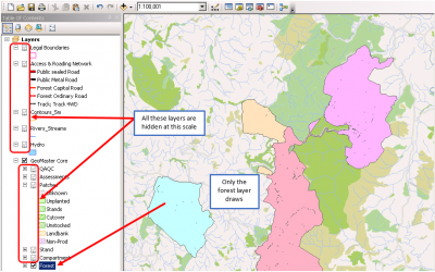 Keeping Productive in GeoMaster by Optimising Layer Display in ArcGIS