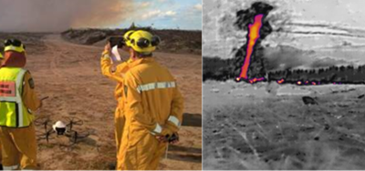 Applying UAV / Drones on the Fire Line – Thermal Camera Hotspot Detection