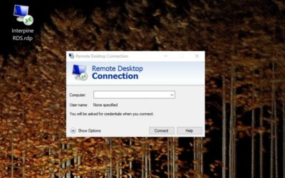 Connect to the Interpine Cloud Remote Desktop Services