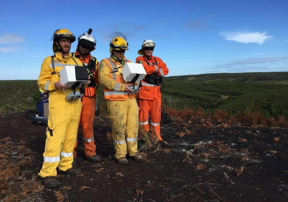 Thermal IR Drone Deployment to Chatham Islands Fire