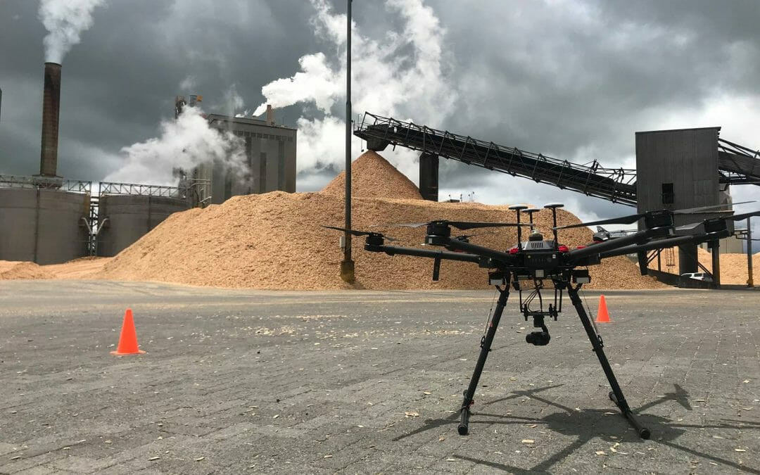 UAV's Useful in Woodchip Stocktakes