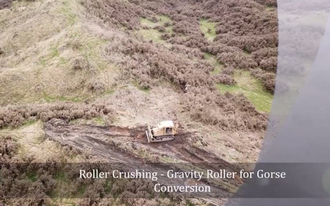 Using UAV Drone for Roller Crushing
