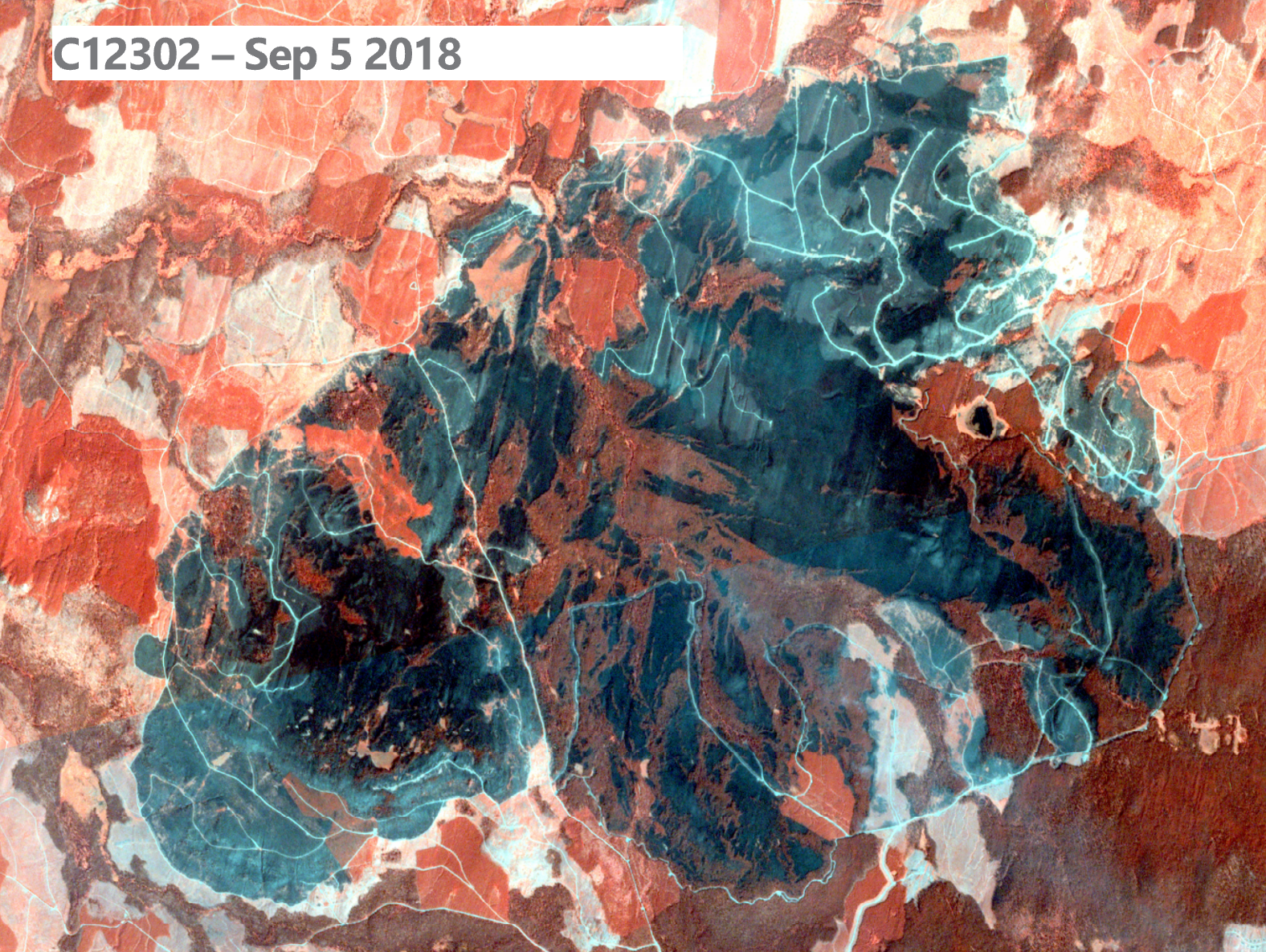 Wildfire Satellite Imagery Near Infrared Canada