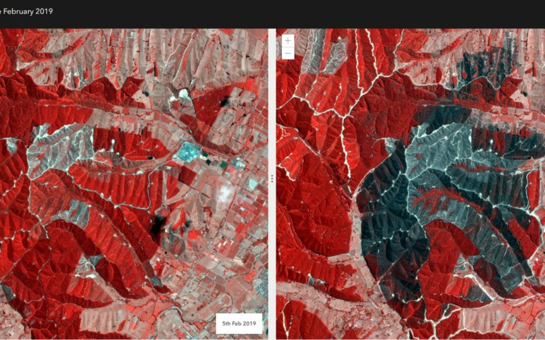 A look at the Nelson Fires 2019, Pre and Post Satellite Imagery Analysis on the Imapcts