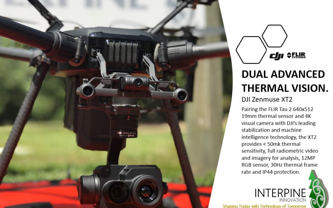 A Glimpse of Interpine's Thermal Drones and their Sensors Capability