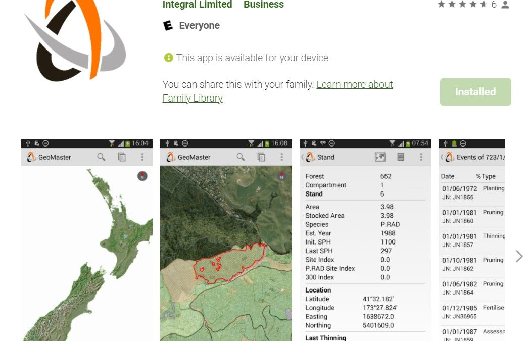 GeoMaster Mobile in Interpine Cloud Services