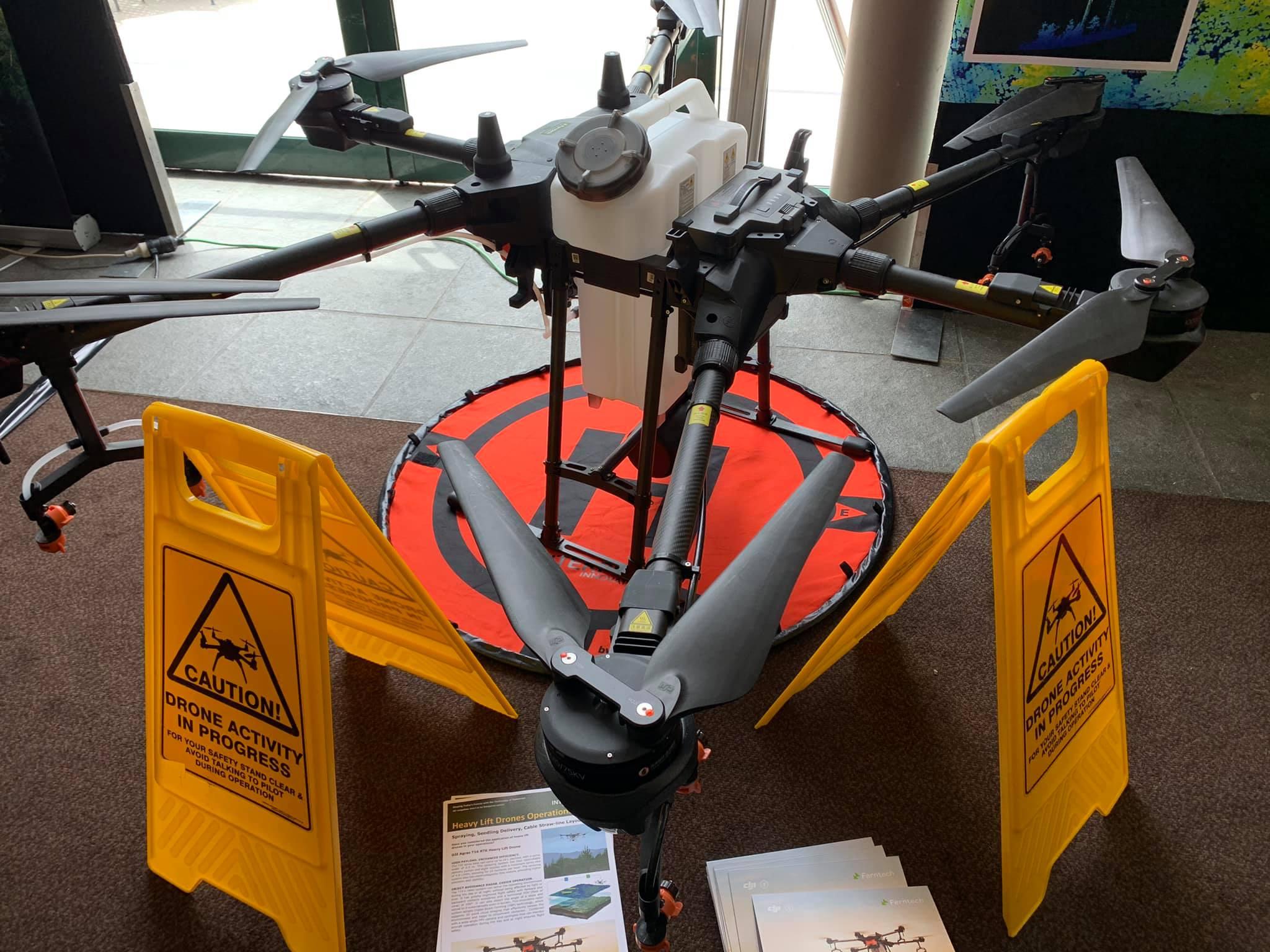 ForestTECH 2020 Conference Rotorua - DJI T16 Spray Drone