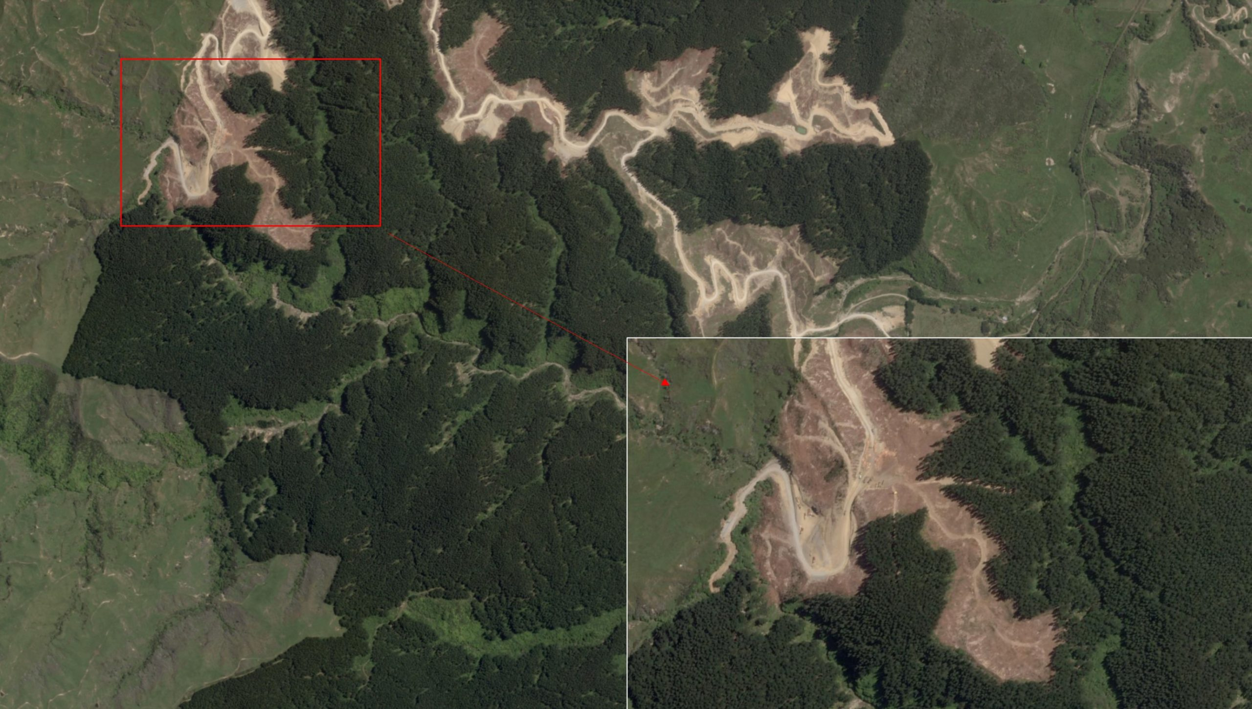 Planet SkySat Roadline Harvesting Operations