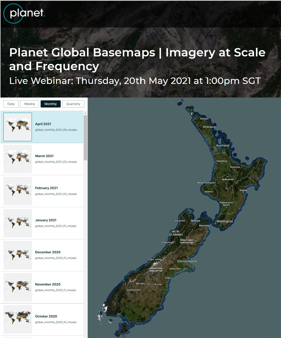 Planet Base Maps